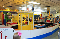 The inside of the Children's Museum