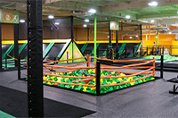 Foam Pit and Trampoline
