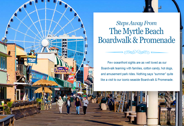 Myrtle Beach Board Walk and Promenade