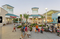 Outdoor shopping at the Tanger Outlets on Highway 17