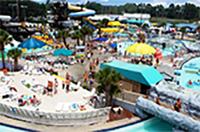 Overview of water park